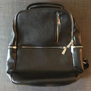 Bostanten Leather Backpack, Black. Barely used!